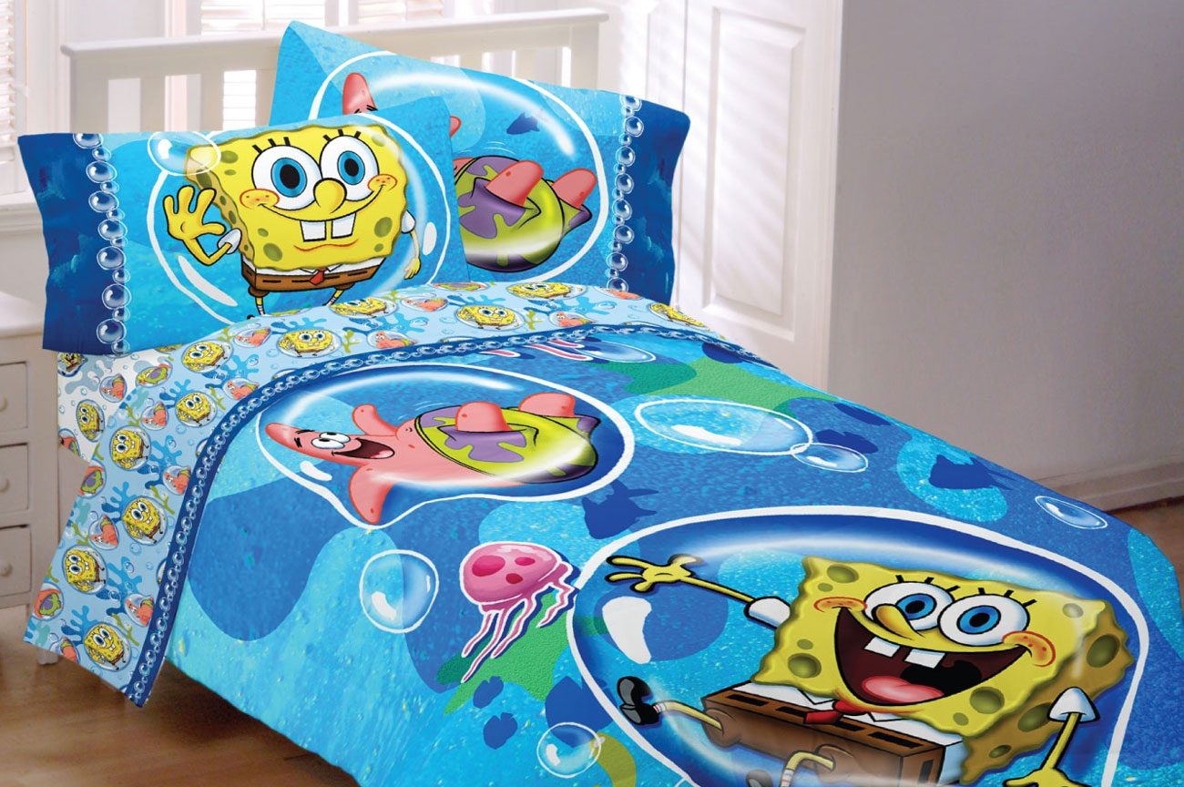 Spongebob Squarepants Bubble Surprise Twin Bedding Set