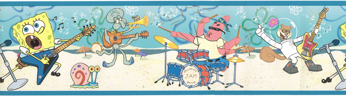 Spongebob Band Wall Border