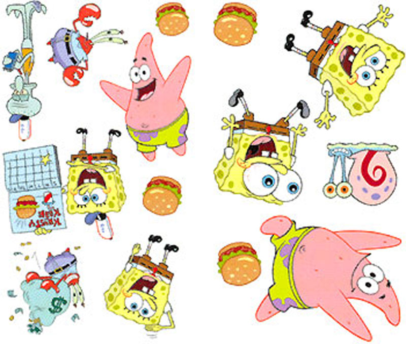 SpongeBob Wall Stickers - 30 Accent Wall Stickers Decals