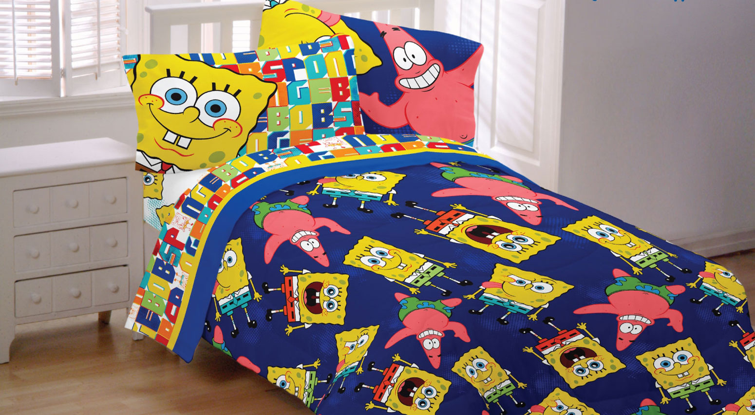 Spongebob Squarepants Bed Sheet Set Scribble Sponge