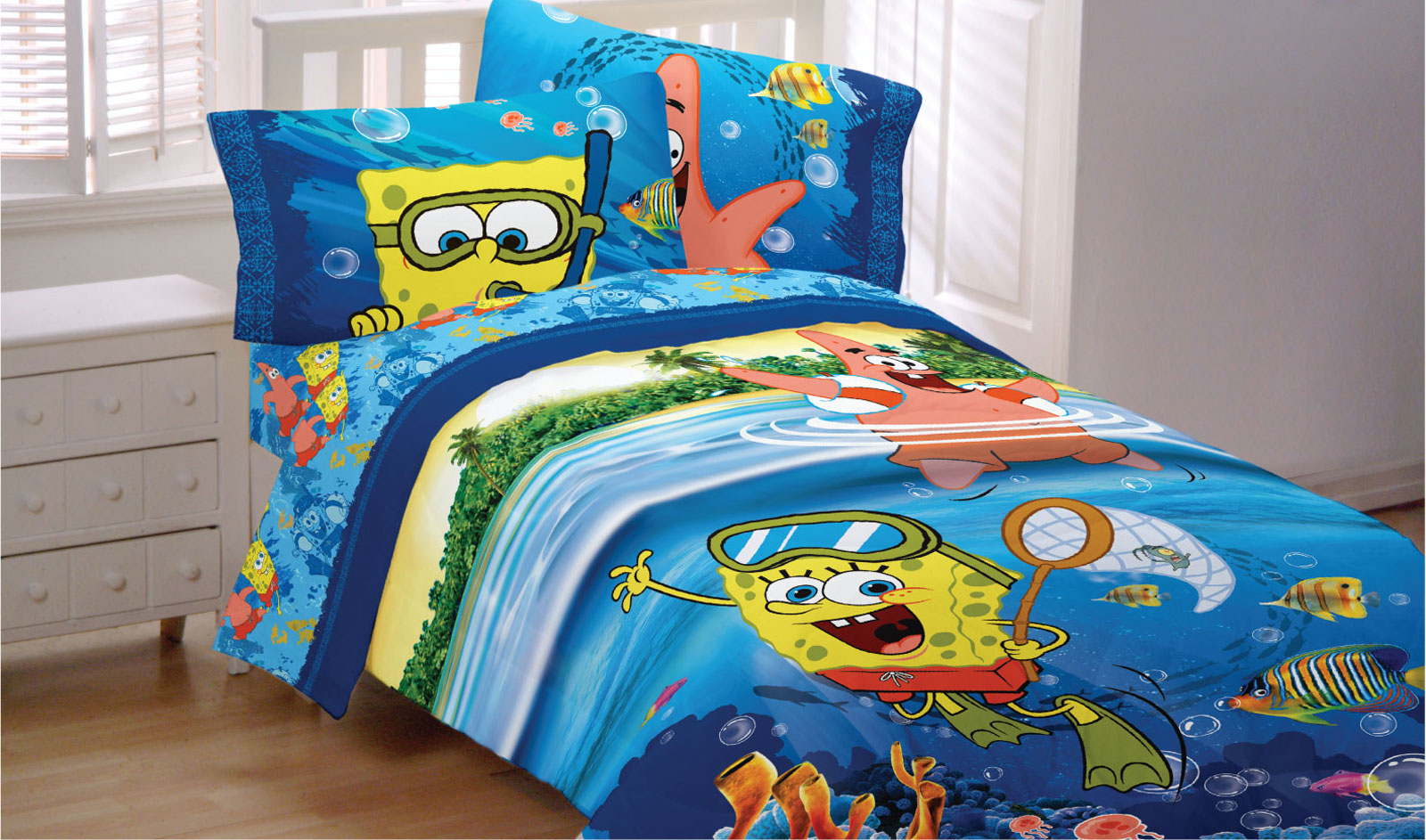Spongebob Squarepants Twin Bed Comforter