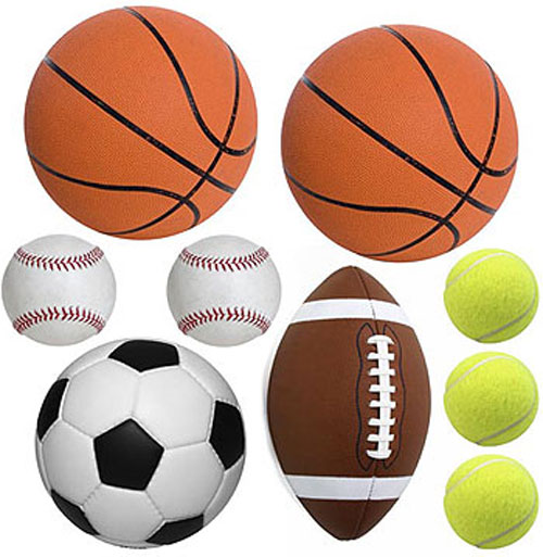 Play Ball Sports - 20 Peel and Stick Wall Stickers