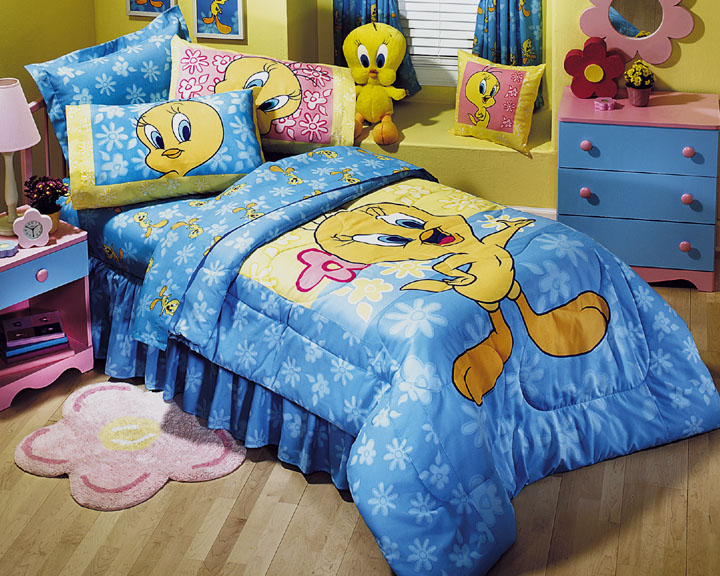 Looney Tunes Tweety Floral Bedding Set Twin Single Size