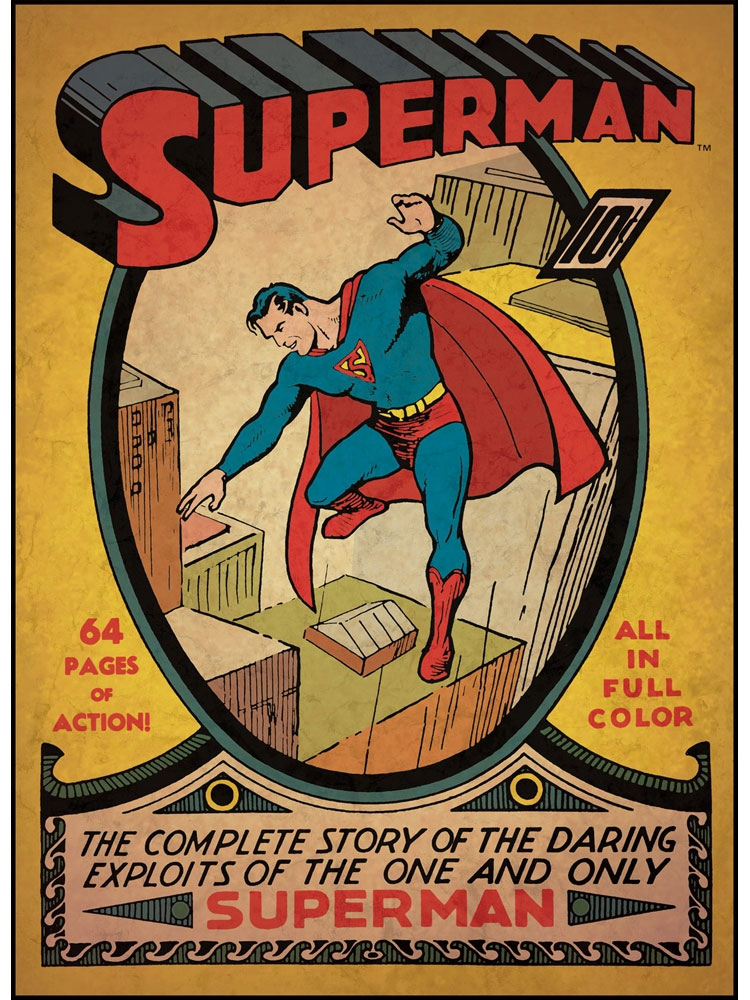 Superman First Issue Wall Accent - DC Comic Book Cover Giant Poster Stick-Up RMK1631SLG