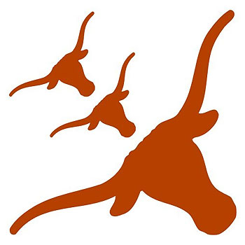 NCAA Texas Longhorns - 3 Large Wall Accent College Murals-Stickers