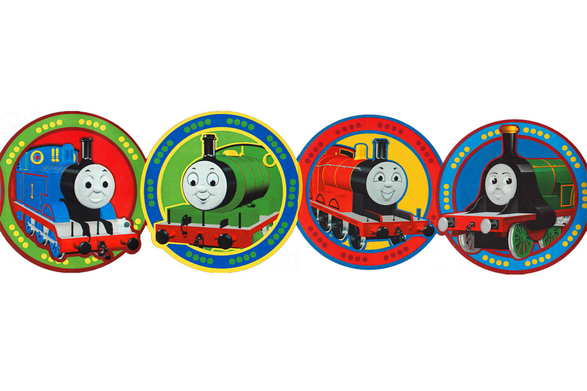 Thomas Tank Train Speed White Wallpaper Border