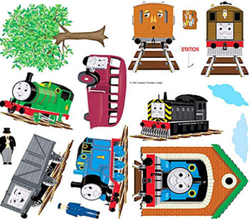 Wonderful Thomas And Friends Peel And Stick Wall Stickers Part 24