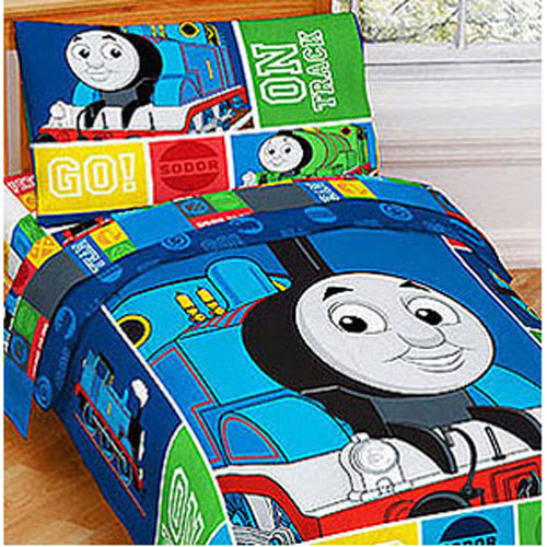nEw 4PC THOMAS TRAIN TODDLER BED SET - Tank Track Engine Blanket Crib Bedding : eBay