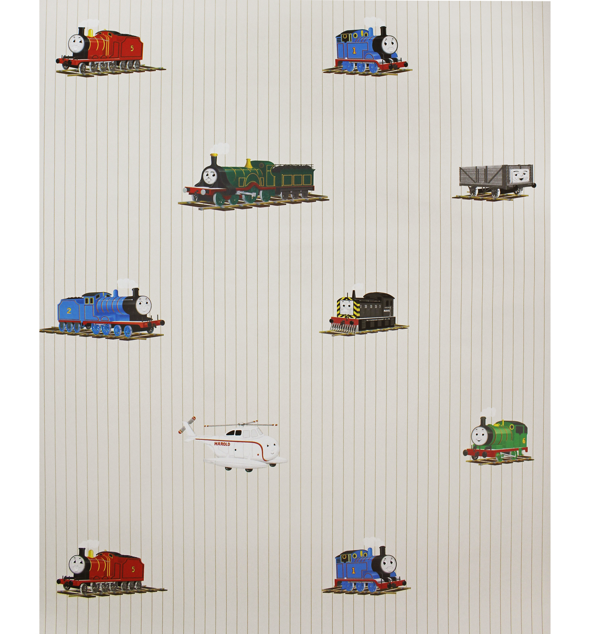 56 sq ft Thomas Train Accent Wallpaper