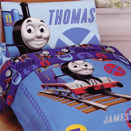 Thomas & Friends Thomas Train Railroad Crossing Toddler Bedding Set at Sears.com