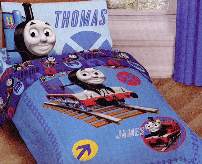 4pc Thomas Train Railroad Bedding Set