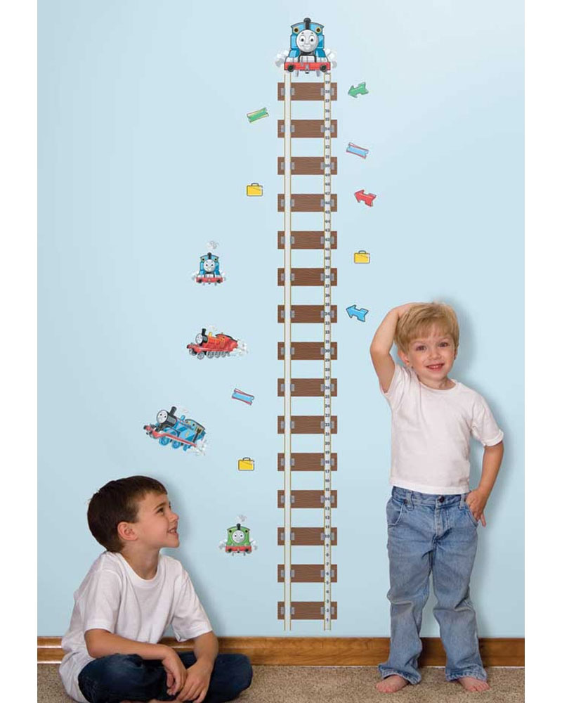 Thomas Train Growth Chart Accent - Railroad Tracks Large Stick-up Wall Decals� RMK1126GC