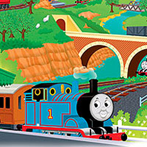thomas the train mural self stick thomas wall accent. Black Bedroom Furniture Sets. Home Design Ideas