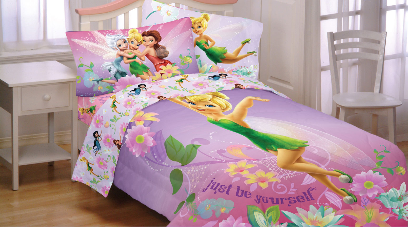 Disney Fairies Twin Full Bed Comforter Tinkerbell Be