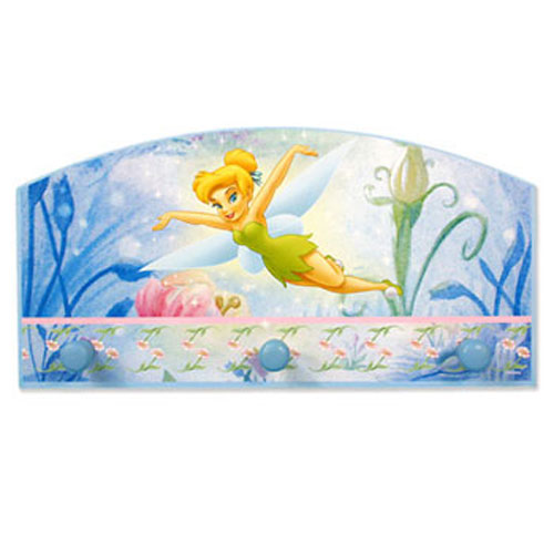 Disney Tinkerbell Wall Hanger - Girls Room Door - Wall Hooks Coat Rack