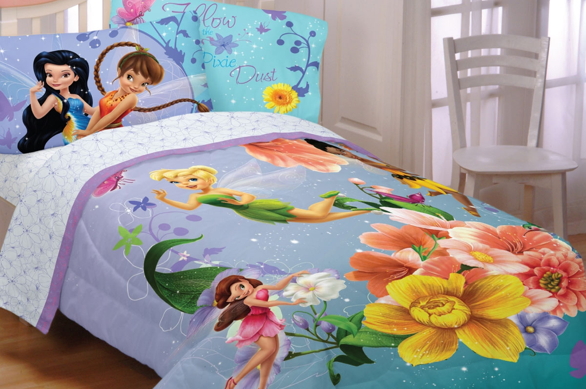 Disney Fairies Fantasy Floral Full Bedding Set