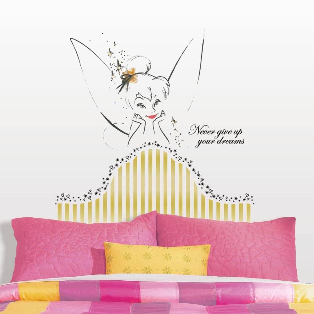 Tinkerbell Dreams Headboard Wall Accent Disney Fairy