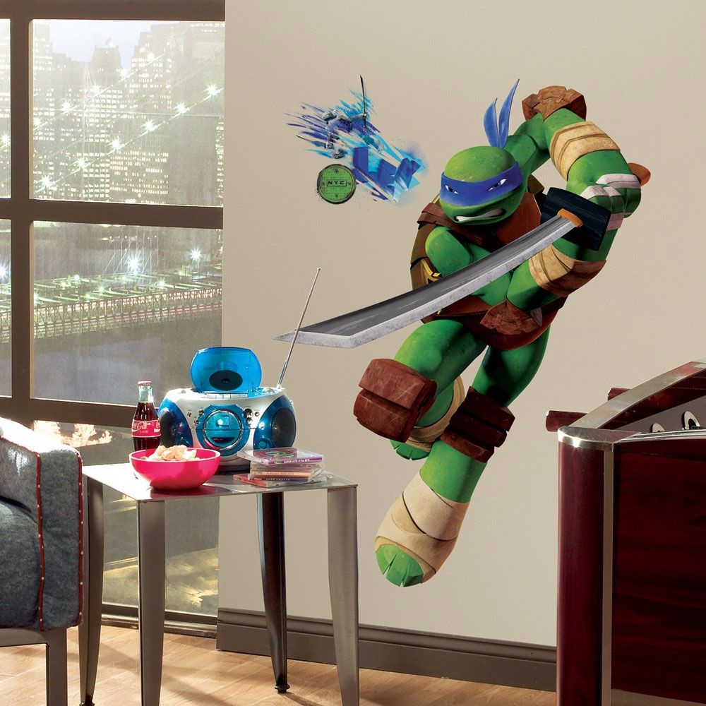 Leonardo Large Wall Accent Sticker - 12pc TMNT Ninja Turtle Self-Stick Decals RMK2249GM