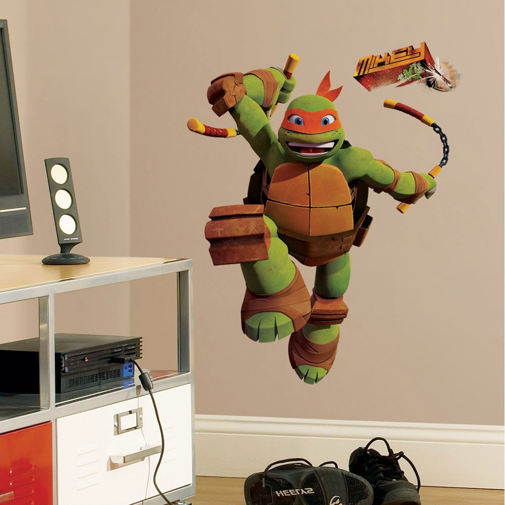 Teenage Mutant Ninja Turtles Mike Peel & Stick Giant Wall Decals RMK2250GM