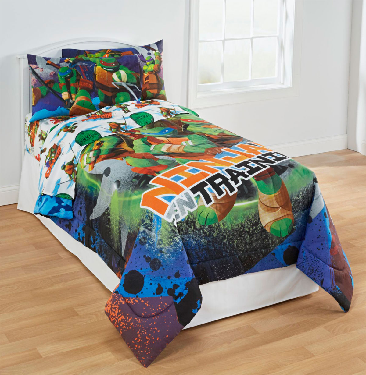 4pc TEENAGE MUTANT NINJA TURTLES TWIN BEDDING SET