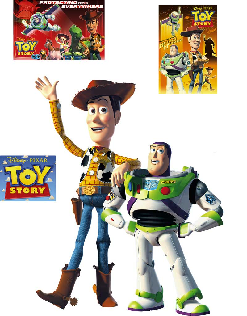 Toy Story Wall Accent Mural - Large Stick-up 6pc Stickers Set FH15-15991