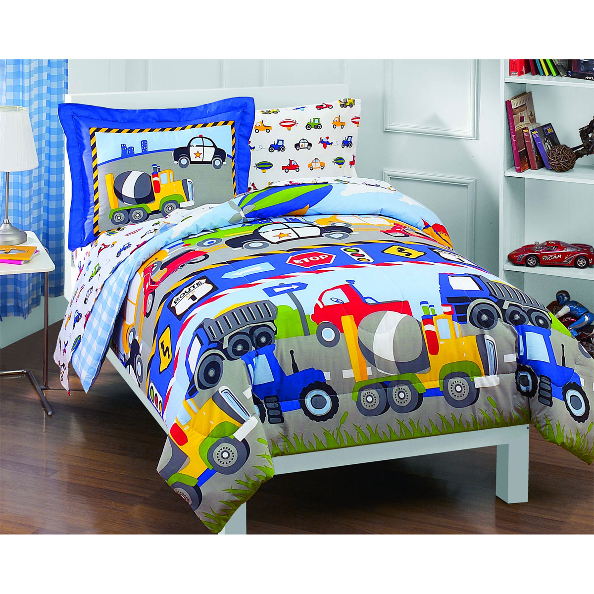 5pc Tractor Trucks Bedding Set