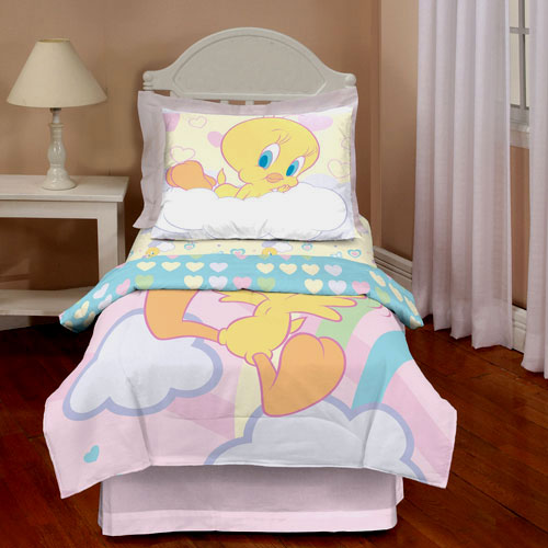 Looney Tunes Tweety Dream Clouds Toddler Bedding Set