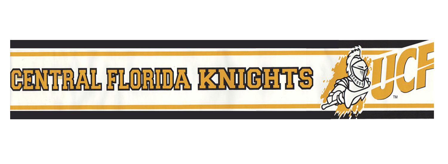 Central Florida Knights Prepasted Border - College Wallpaper Border Roll