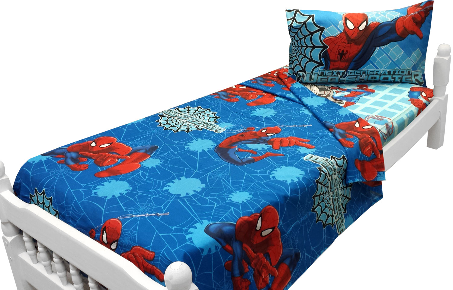 Ultimate Spider-Man Twin Bed Sheets - 3pc Marvel Comics Bedding Accessories