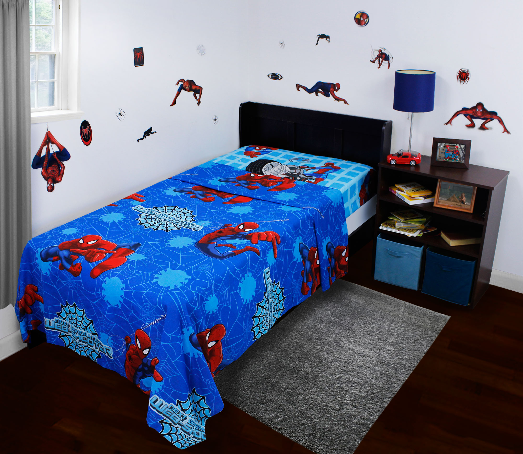 Spider-Man Twin Sheets and Sticker Set - 26pc Superhero Bedding and Decals