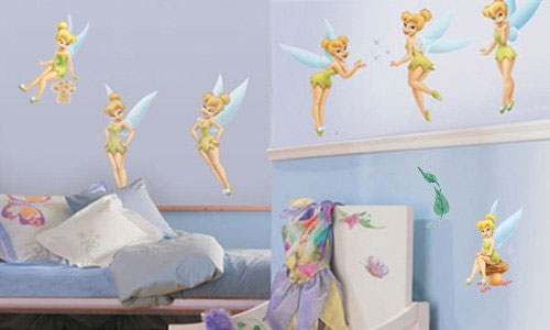 19pc Disney Tinkerbell Large Wall Stickers