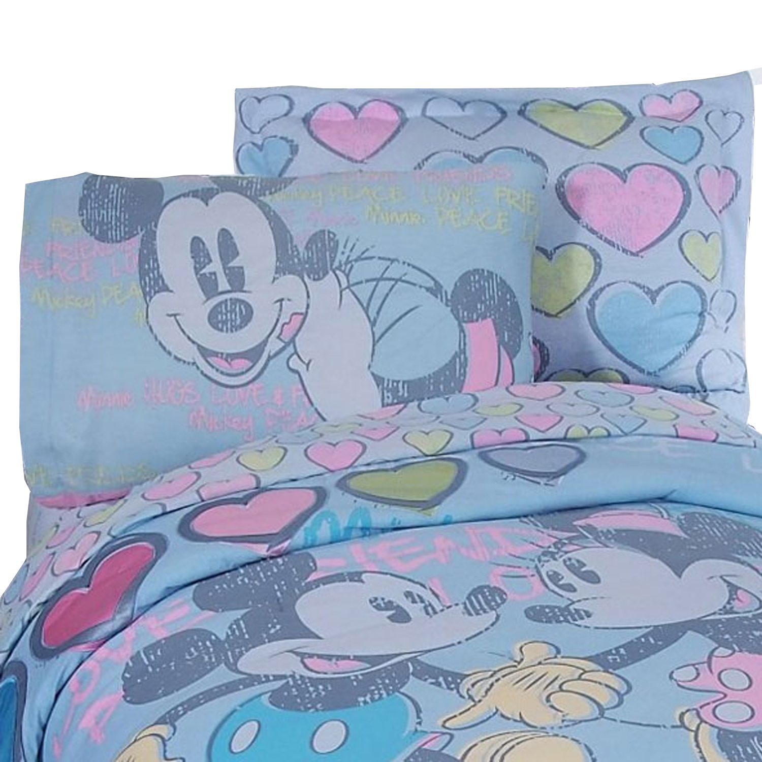 Disney Mickey Minnie Mouse Sheet Set Disney Vintage Bedding at Sears.com
