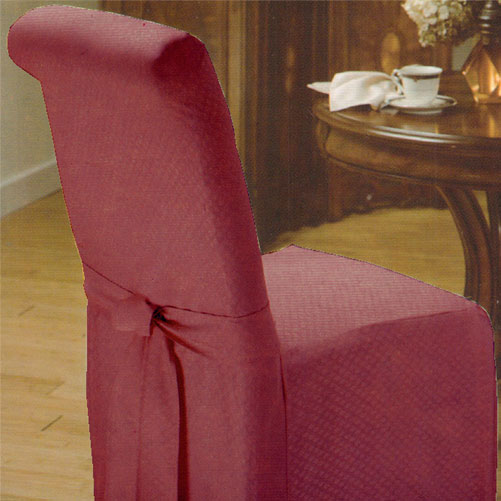 Wine Red Dining Chair Slipcover Armless Chair Decorative