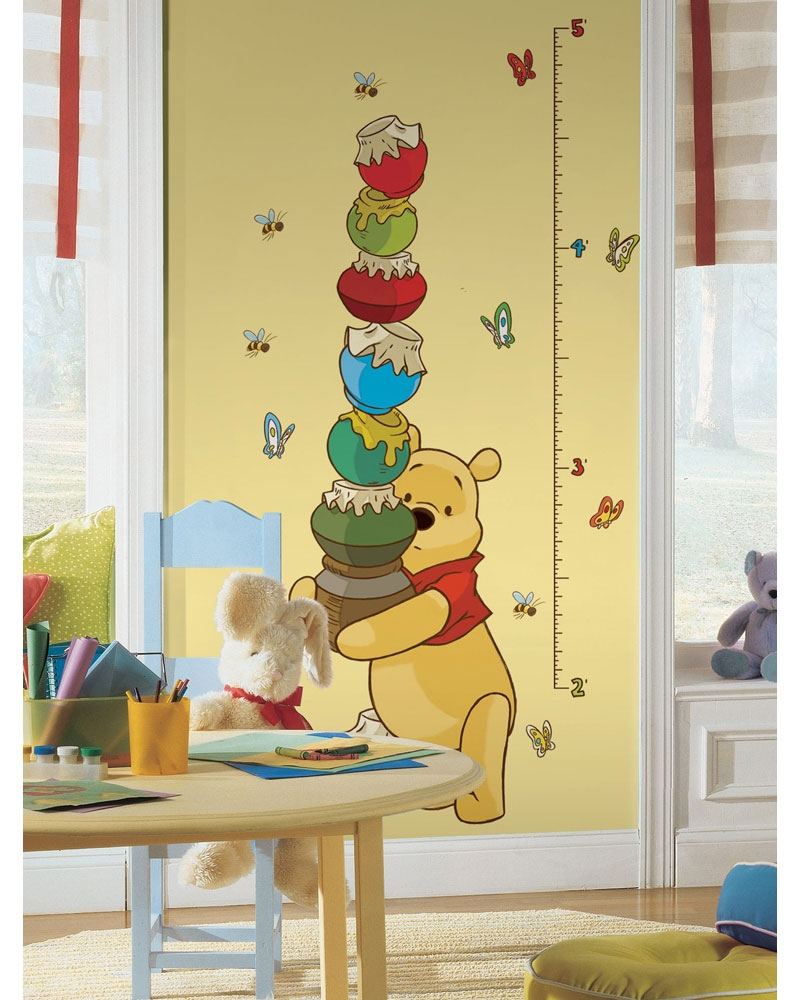 Winnie Pooh Growth Chart Accent - Honey Pots Large Stick-up Wall Decals  RMK1501GC