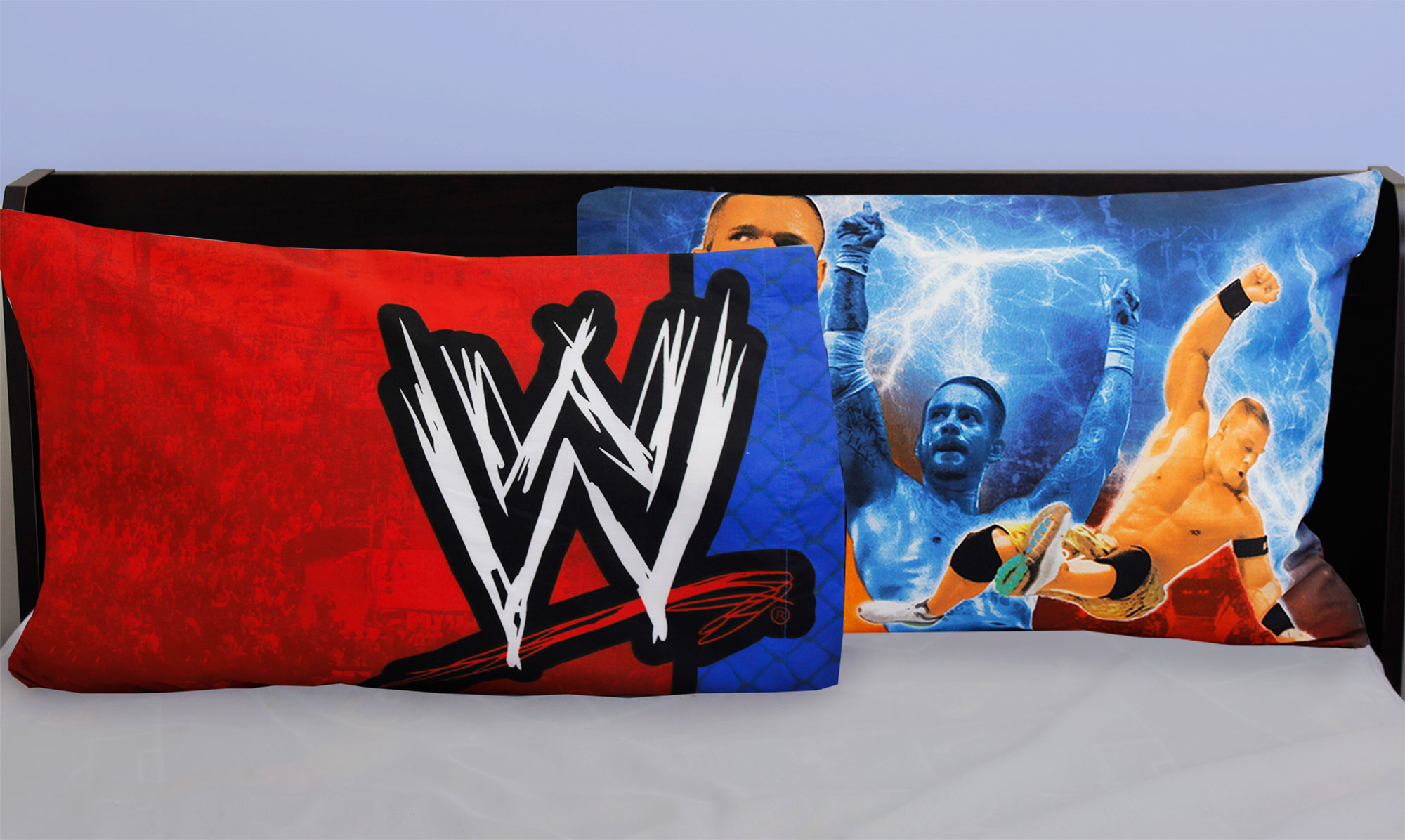2 pack wwe reversible pillowcases wrestling champions for Wwe bathroom decor