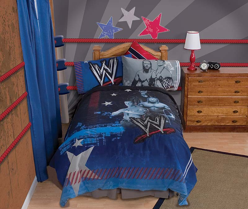 Wwe Bedroom Decor: 3pc WWE Ringside TWIN-Single SHEET SET