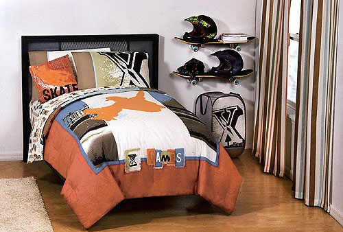 Extreme Sports XGames Bedding Set - Boys BMX Bedding Set - Twin Bed