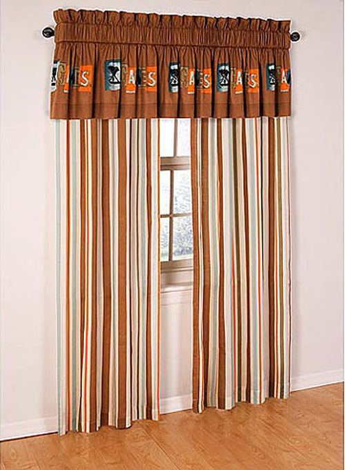 XGames Curtains Set - 3pc Extreme Games Drapes Valance Set